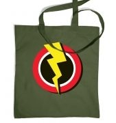 Red and Yellow Flash Symbol  tote bag