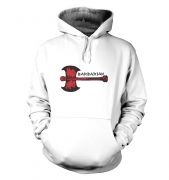Red Barbarian Axe hoodie