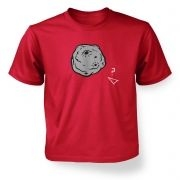 Retro 2D Arcade Spaceship v Real 3D Asteroid  kids t-shirt