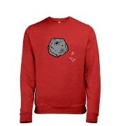 Retro 2D Arcade Spaceship v Real 3D Asteroid men's heather sweatshirt