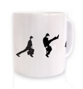 Row Of Silly Walks ceramic coffee mug