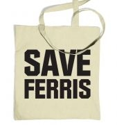 Save Ferris (Black) tote bag
