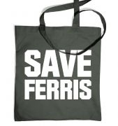 Save Ferris (White) tote bag