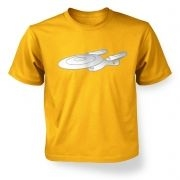 Silver Starship Enterprise kids' t-shirt