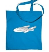 Silver Starship Enterprise tote bag
