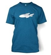 Silver Starship Enterprise  t-shirt