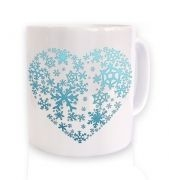 Snowflake Heart Christmas Mug 