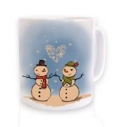 Snowmen In Love Christmas Mug