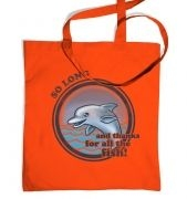 So long dolphin tote bag