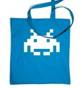 Alien Invader Pixel Art tote bag