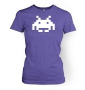 Alien Invader Pixel Art women's fitted t-shirt