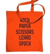 Spock, Paper, Scissors Tote Bag