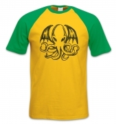 Cthulhu short-sleeved baseball t-shirt