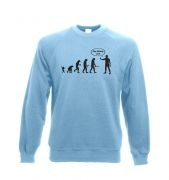 Stop following me! evolution Adult Crewneck Sweatshirt