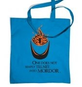 Telnet into Mordor tote bag