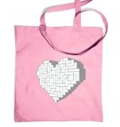 Shaped Brick Heart tote bag