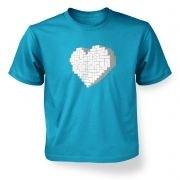 Shaped Brick Heart  kids t-shirt
