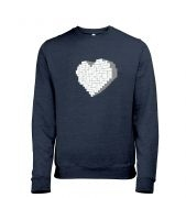 Shaped Brick Heart men's heather sweatshirt