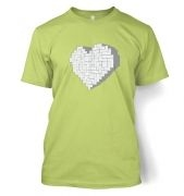 Shaped Brick Heart  t-shirt