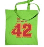 The Answer Is 42 tote bag