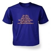 The Dwarves of Lonely Mountain   kids t-shirt