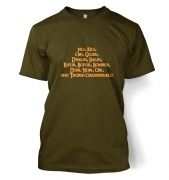 The Dwarves of Lonely Mountain  t-shirt