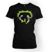 Mr Mean and Green  womens t-shirt