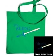 The sting glow in the dark tote bag