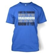 Thinking I'm The Dragonborn men's t-shirt