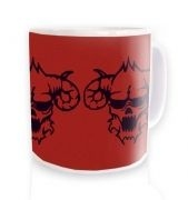 Three Black Demon's Heads Mug