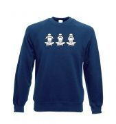 Three Wise Stormtroopers crewneck sweatshirt