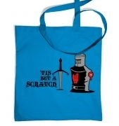 Tis but a Scratch tote bag