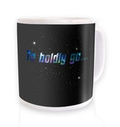 To Boldly Go mug