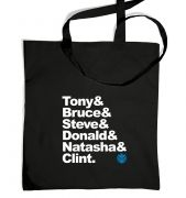 Tony and Bruce and Tote Bag