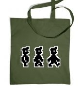 Walking Pixel Guy tote bag