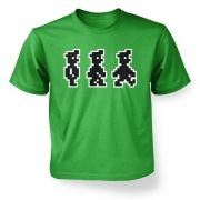 Walking Pixel Guy  kids t-shirt
