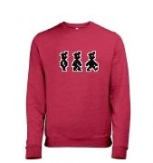 Walking Pixel Guy heather sweatshirt