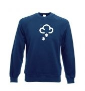Weather Symbol Snow Adult Crewneck Sweatshirt