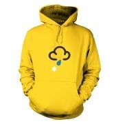 Weather Symbol Snow with Rain hoodie
