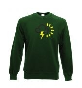 Weather Symbol Thunderstorms with Sun Adult Crewneck Sweatshirt