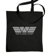 Weyland Corp (grey) tote bag