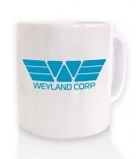 Weyland Corp Logo (blue) ceramic coffee mug