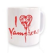 I Heart Vampires (white) ceramic coffee mug