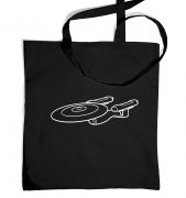 White Starship Enterprise tote bag
