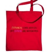 Women come and go tote bag