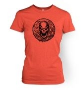 Skull Coin women's fitted t-shirt
