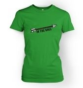 Cartoon Arrow In The Knee  womens t-shirt