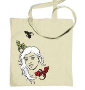 Women's Daenerys with dragons tote bag