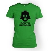 Darth Invader women's fitted t-shirt