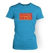 Don't Panic women's fitted t-shirt